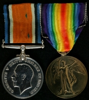 Harry Greenwood : (L to R); British War Medal; Allied Victory Medal