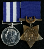 William Griffin : (L to R) Egypt Medal; Khedive's Star