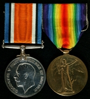Robert Gudgeon : (L to R) British War Medal; Allied Victory Medal