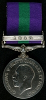 George Robert Gunn : General Service Medal 1918-62 with clasp 'Iraq'