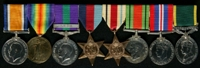 Thomas Edward Haddock : (L to R) British War Medal; Allied Victory Medal; General Service Medal 1918-62 with clasp 'Iraq'; 1939-45 Star; Africa Star; 1939-45 Defence Medal; 1939-45 War Medal; Efficiency Medal