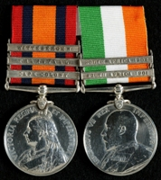 William Haddon  : (L to R) Queen's South Africa Medal with clasps 'Cape Colony', 'Transvaal', 'Wittebergen'; King's South Africa Medal with clasps 'South Africa 1901', 'South Africa 1902'