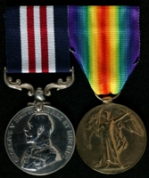 Austin Hadfield : (L to R) Military Medal; Allied Victory Medal