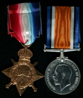 James Robert Hadfield : (L to R) 1914-15 Star; British War Medal