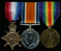 James Herbert Hague : (L to R) 1914-15 Star; British War Medal; Allied Victory Medal