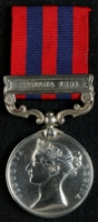 Richard Hall : India General Service Medal (1854) with clasp 'Samana 1891'