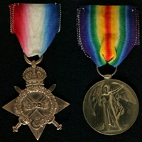 John Hallows : (L to R) 1914-15 Star; Allied Victory Medal