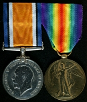 Thomas Hampson : (L to R) British War Medal; Allied Victory Medal