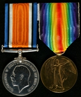 Thomas Hanrahan : (L to R) British War Medal; Allied Victory Medal