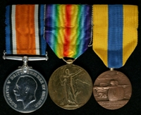 Arthur Johnson Hardman : (L to R) British War Medal; Allied Victory Medal; Médaille Commémorative des Batailles de la Somme