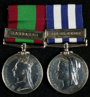 Henry Hawley : (L to R) Afghanistan Medal with clasp 'Kandahar'; Egypt Medal with clasp 'Tel el Kebir'