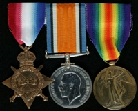 James Hayes : (L to R) 1914-15 Star; British War Medal; Allied Victory Medal