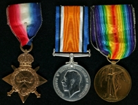 Harold Jackson : (L to R) 1914-15 Star; British War Medal; Allied Victory Medal