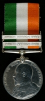 Ralph Jackson : King's South Africa Medal with clasps 'South Africa 1901', 'South Africa 1902'