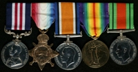John Albert James : (L to R) Military Medal; 1914-15 Star; British War Medal; Allied Victory Medal; 1939-45 Defence Medal