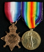 Harry Jepson : (L to R) 1914-15 Star; Allied Victory Medal