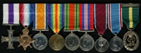 Alan Douglas Johnson : (L to R) Military Cross; 1914-15 Star; British War Medal; Allied Victory Medal; 1939-45 Defence Medal; 1939-45 War Medal; 1935  Jubilee Medal; 1937 Coronation Medal; Efficiency Decoration