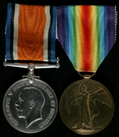 Harry Johnson : (L to R) British War Medal; Allied Victory Medal