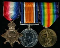 John William Johnson : (L to R) 1914-15 Star; British War Medal; Allied Victory Medal