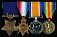 Dick Jones : (L to R) Khedive's Star; 1914-15 Star; British War Medal; Allied Victory Medal
