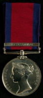 Richard Jones  : Military General Service Medal with clasp 'Guadaloupe'