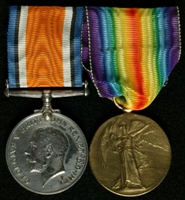 Edward Herbert Jukes : (L to R) British War Medal; Allied Victory Medal