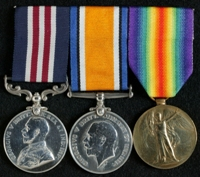 Charles Kay : (L to R) Military Medal; British War Medal; Allied Victory Medal