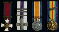 William Kay : (L to R) Distinguished Service Order; Military Cross and two Bars; British War Medal; Allied Victory Medal with 'Mentioned in Despatches' oak leaves