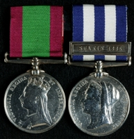 James Kelly : (L to R) Afghanistan Medal; Egypt Medal with clasp 'Suakin 1885'