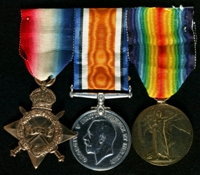Percy Kennerley : (L to R) 1914-15 Star; British War Medal; Allied Victory Medal