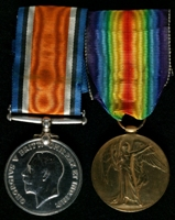 Fred Kershaw : (L to R) British War Medal; Allied Victory Medal