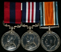 Frederick Kewley : (L to R) Distinguished Conduct Medal; Military Medal; British War Medal