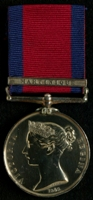 Zachariah King : Military General Service Medal with clasp 'Martinique'