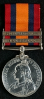 Francis Kirkham : Queen's South Africa Medal with clasps 'Transvaal', 'South Africa 1902'