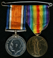 John Albert Lane : (L to R) British War Medal; Allied Victory Medal