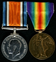 Ernest Lawson : (L to R) British War Medal; Allied Victory Medal