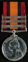 Samuel Lee : Queen's South Africa Medal with clasps 'Cape Colony', 'Orange Free State', 'South Africa 1902'