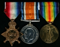 Harry Lees : (L to R) 1914-15 Star; British War Medal; Allied Victory Medal