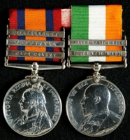 J. Lester : Queen's South Africa Medal with clasps 'Cape Colony', 'Transvaal', 'Wittebergen'; King's South Africa Medal with clasps 'South Africa 1901', 'South Africa 1902'