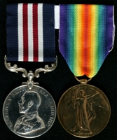 David T. Lewis : (L to R) Military Medal; Allied Victory Medal
