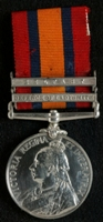 J. Lewis : Queen's South Africa Medal with clasps 'Defence of Ladysmith', 'Belfast'