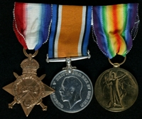 John Lloyd : (L to R) 1914-15 Star; British War Medal; Allied Victory Medal