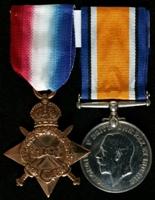 Thomas Lloyd : (L to R) 1914-15 Star; British War Medal
