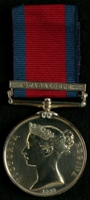 John Longlands : Military General Service Medal with clasp 'Guadaloupe'