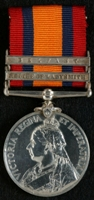 Joseph Edwin Makin : Queen's South Africa Medal with clasps 'Relief of Ladysmith', 'Belfast'