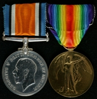 Robert Malcolm : (L to R) British War Medal; Allied Victory Medal