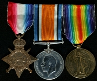 John Norman Manley  : (L to R) 1914-15 Star; British War Medal; Allied Victory Medal
