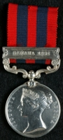 George Mansel : India General Service Medal (1854) with clasp 'Samana 1891'
