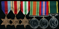 Norman Marsden : (L to R) 1939-45 Star; Africa Star; Italy Star; 1939-45 Defence Medal; 1939-45 War Medal; Efficiency Medal