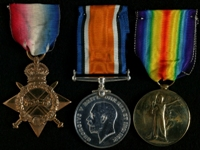 Philip Sidney Marsden : (L to R) 1914-15 Star; British War Medal; Allied Victory Medal